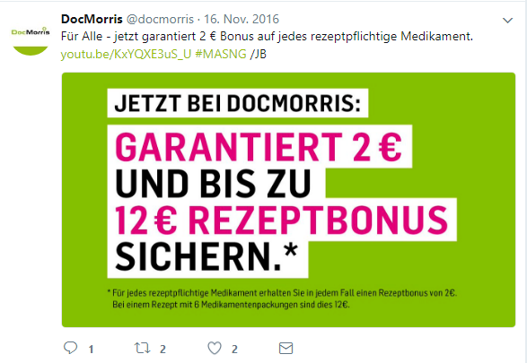 Docmorris 12€ Rezeptbonus